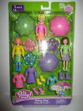 Polly Pocket RAINY DAY Doll Set Polly Lila Lea 18 Pieces NEW