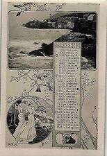 Calendario Mese Aprile 1904 PC Belle Epoque Fotomontaggio Segni Zodiacali
