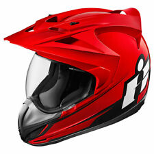 Icon Variant Double Stack Red Motorcycle Motorbike Helmet