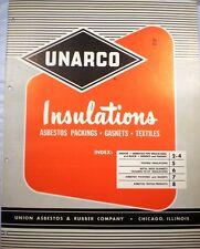 UNARCO Union Asbestos Rubber Company Catalog AMOSITE