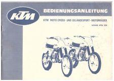 Bedienungsanleitung - Anleitung Nutzung und Haltung - KTM Motorrad Cross 1979