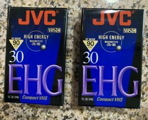 (2) JVC TC-30 EHG Compact VHS Tape 90 minute VHS-C Sealed New