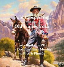 CD - GOLD PROSPECTING - OLD TIMERS Collection Vol.2 + Pics, Movies, Pics & Maps
