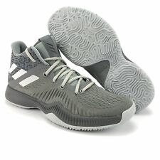 Adidas Mens Mad Bounce Gray White Basketball Shoes Size 8
