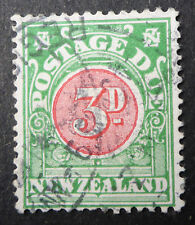 NEW ZEALAND #J19 USED CAT.$50 POSTAGE DUE (D) KEY VALUE