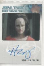 "Star Trek DS9 Heroes/Villains Auto Trading Card Heidi Swedberg ""Rekelen"""