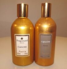 SET OF 2 FRAGONARD GRASSE PARFUM PERFUME CAPUCINE 9 OZ TOTAL SPRAY & REFILL