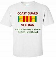 USCGC CHAUTAUQUA WHEC-41 * SOUTH VIETNAM*VIETNAM VETERAN RIBBON 1959-1975 SHIRT