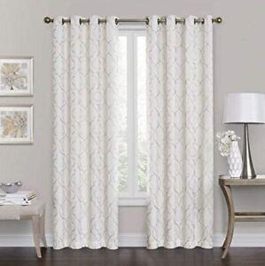 "Brent Grommet 84"" 100% Blackout Window Curtain Panel - Ivory"