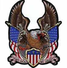 """12.5"""" Federal Eagle Shield US Flag Military Patch PATRIOTIC In God We Trust XXL"""