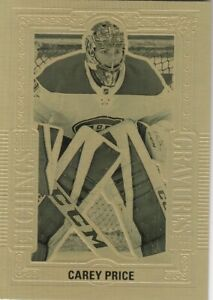 CAREY PRICE NO:GE-7 ETCHINGS GOLD in UD TIM HORTONS 2018-19   a