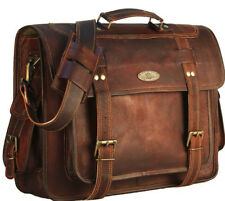 Men's Genuine Leather Vintage Laptop Messenger Handmade Satchel Briefcase Bag