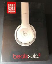 Beats by Dr Dre Solo 2 WIRED Headphone [ Gloss WHITE Edition ] NEW