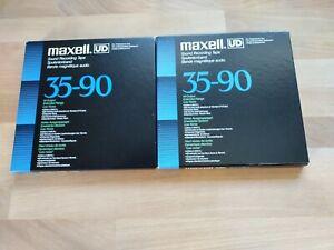 2 Maxell Tonbänder UD 35-90 + eine Leerspule