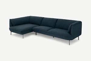 MADE.com Living Room Stylish Aegean Blue Left Hand Corner Sofa - RRP £999