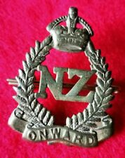 WW1 New Zealand Forces cap  Badge BRASS
