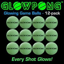 GlowPong Glowing Light Ping Beer Pong Game Balls 12 Pack Drinking College Party