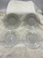 "4 Princess House Fantasia Bread & Butter / Dessert Plates 6.25"""