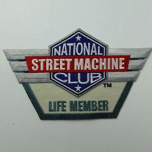 "National Street Machine Club Life Member Patch 3.5"" x 5.5"""