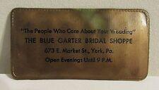 Vintage Blue Garter Bridal Shoppe Advertisement Needle and Thread Kit (SN #3)
