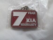 Genuine metal Kia Keyring Sealed -  7 Year Kia Warranty - 35mm x 26mm  - Car