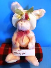 Pbc Pink Bunny in Hat Beanbag Plush (310-1183-1)