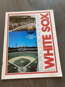 1983 Official Scorecard & Program Detroit Tigers vs Chicago White Sox Unscored