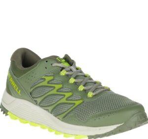 Men Merrell Wildwood Trail Running Shoes Sneakers Olive Green Tan Lichen J066487