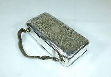 Ausgefallenes Reisenecessaire Tasche um 1900 Silber Kamm Spiegel