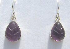Amethyst grav. Ohrhänger-Amethyst Earrings 925 Silber E7125