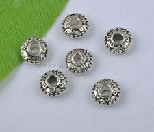 50Pcs Tibetan Silver Bicone Spacer Beads 4X8mm (hole2.5mm) DIY Findings