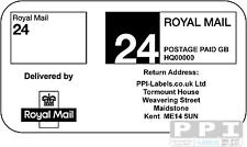 1000 ROYAL MAIL 24 (STANDARD) PPI Labels & Return Address STD-24-04 (21s) Sheets