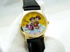 MICKEY & MINNIE MOUSE, 1998 Cast Holiday, Animated Snow, MENS WATCH R11-09