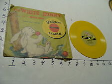 Vintage Childrens Record-the WHITE BUNNY and his MAGIC NOSE, BUNNY HOP