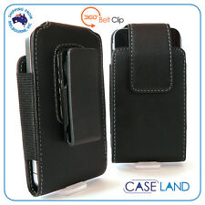 S- ROTATING SWIVEL LEATHER HOLSTER POUCH CASE BELT CLIP FOR APPLE IPHONE 4 4S 3G