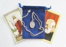 Wonderful St. Padre Pio Saint Medal w/ 24 Inch Necklace