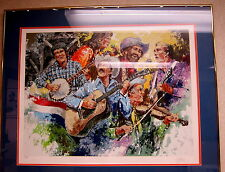 """FRAMED LIMITED EDITION SIGNED SERIGRAPH """"COUNTRY WESTERN"""" BY WAYLAND MOORE"""