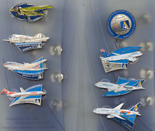 """8 Airplane Staff Pin Set"" on Stand Ansett Airlines Sydney 2000 Olympic Games"
