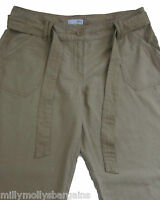 New Womens Beige Linen NEXT Trousers Size 12 10 8 Long Petite