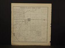 California, Fresno County Map, 1891, Butler, Malaga, Double Sided, !K2#50