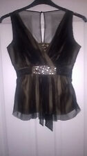 Principles Summer Sheer party top size 8 Petite
