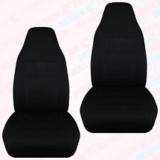 CC FRONT SET CAR SEAT COVERS JEEP /TAN/CHARC/PINK .CHOOSE FROM 25 COLOR