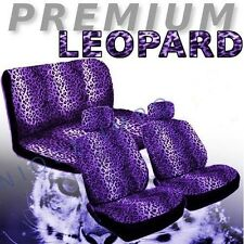 Purple Leopard Car Seat Covers Animal Pair Bench CS