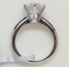 1 Carat D VS2 Enhanced Diamond Engagement Ring Round Cut 14K White Gold Enhanced