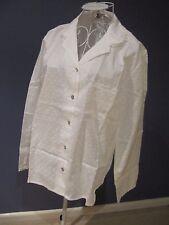 NEW Cyberjammies Nora Rose Women White Lace Trim Cotton Pajama Top Size 14