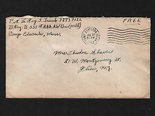 OPC 1943 551st Btry B Camp Edwards Mass. to NY Soldier Free Mail