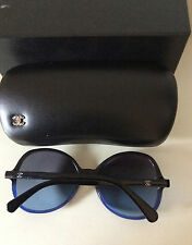 CHANEL CLASSIC BLACK  & BLUE GRADIENT CC LOGO SUNGLASSES