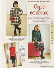 patron couture Avantages Robe femme 38 - 40 - 42 - 44  fillette   4 - 6 - 8 ans