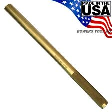 "Wilde Solid Brass Drift Pin Punch 3/4"" x 12"" Made in USA BD2432"