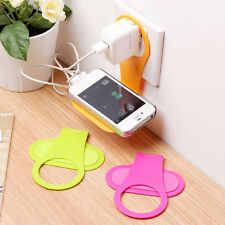Foldable Cell Phone Charging Rack Holder Wall Charger Adapter Hanger Shelf LW